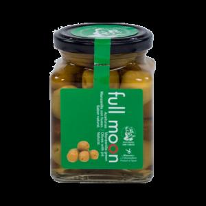 Espnajalaiset kokonaiset Manzilla oliivit. Tuorekypsytetyt suolavedessä - ei etikkaa.