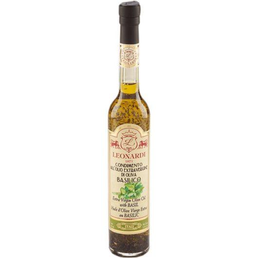 Basilikalla maustettu oliiviöljy