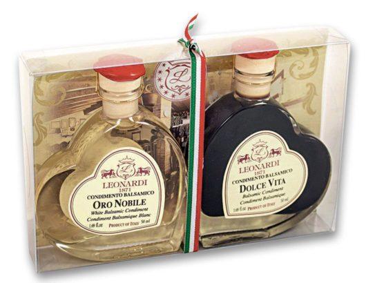 Tuplapakkaus, condimento balsamico Oronobile ja Dolce vita yhdessä